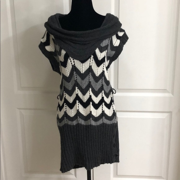 1935df34ee4 Charlotte Russe Sweaters - Large Chevron Sweater Dress with cowl neckline